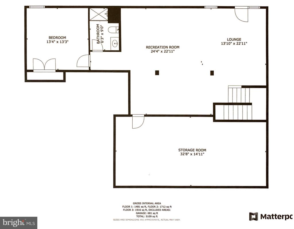 Lower level floorplan - 24890 DAHLIA MANOR PL, ALDIE