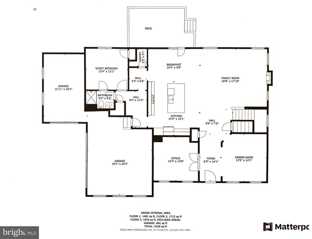 Main level floorplan - 24890 DAHLIA MANOR PL, ALDIE