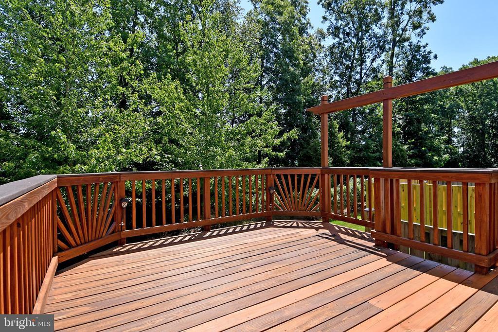 Deck View - 11872 BENTON LAKE RD, BRISTOW