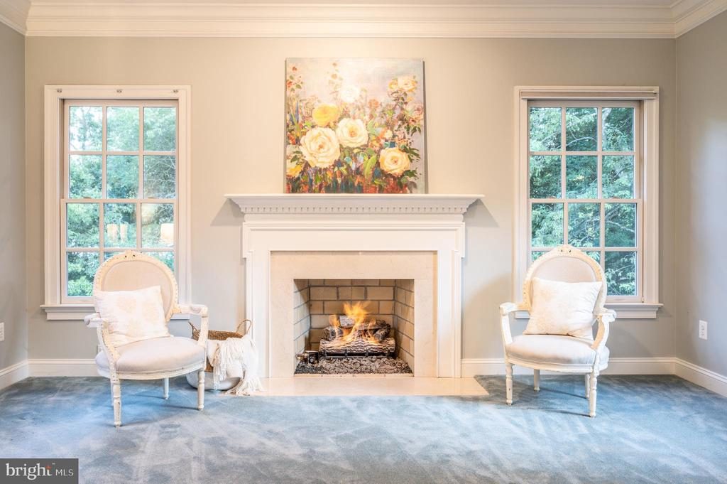 Cozy Sitting area by fireplace - 3601 SURREY DR, ALEXANDRIA