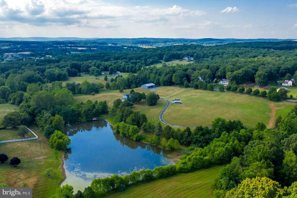 Aerial View -Pond on Property - 22669 WATSON RD, LEESBURG