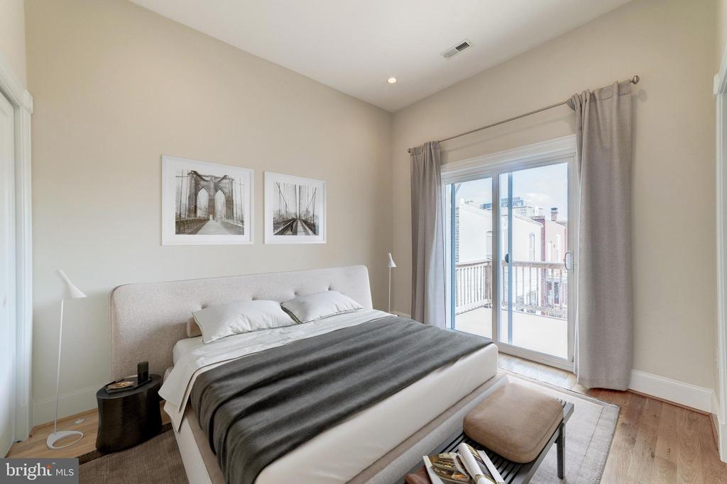Virtually Staged Second Bedroom - 704 G ST NE, WASHINGTON