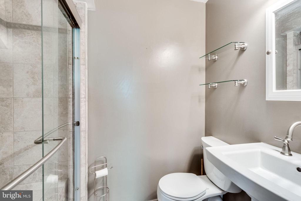 Lower level renovated full bathroom - 4702 DECLARATION CT, ANNANDALE