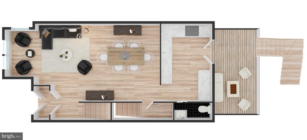 Main Level Floor Plan - 704 G ST NE, WASHINGTON