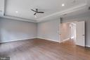 Master Bedroom w/ extended ceiling - 7411 NIGH RD, FALLS CHURCH