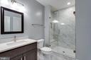 Guest Full Bathroom (Sit-in Shower) - 7411 NIGH RD, FALLS CHURCH