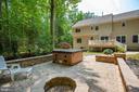 Custom patio for hot tub and fire pit - 9101 SNOWY EGRET CT, SPOTSYLVANIA