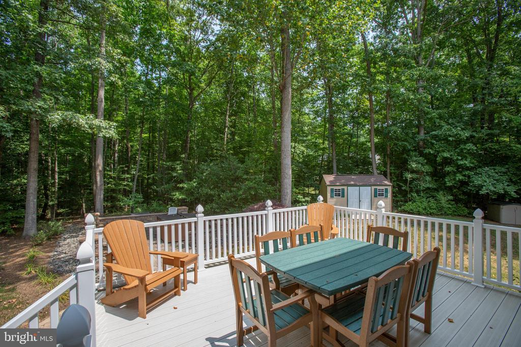 Privacy is perfect for outdoor living - 9101 SNOWY EGRET CT, SPOTSYLVANIA