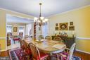 Formal dining room - 9101 SNOWY EGRET CT, SPOTSYLVANIA