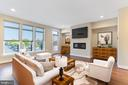 Contemporary Family Room - 42394 WILLOW CREEK WAY, BRAMBLETON