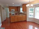 Kitchen with Eating Space - 103 ENGLISH CT SW, LEESBURG