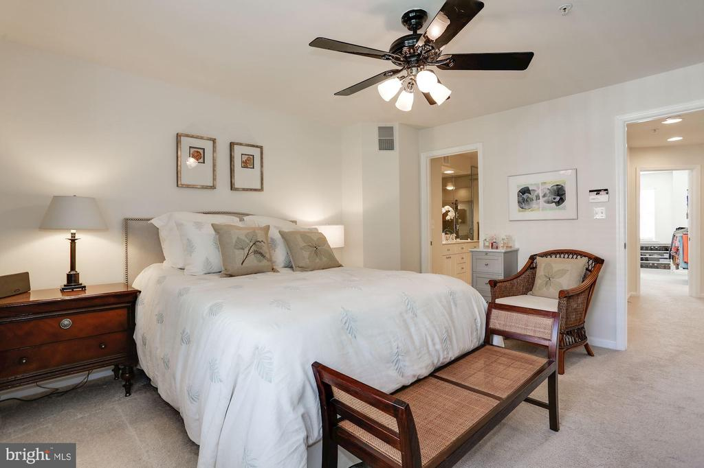 Master Bedroom with Ceiling Fan - 12197 CHANCERY STATION CIR, RESTON