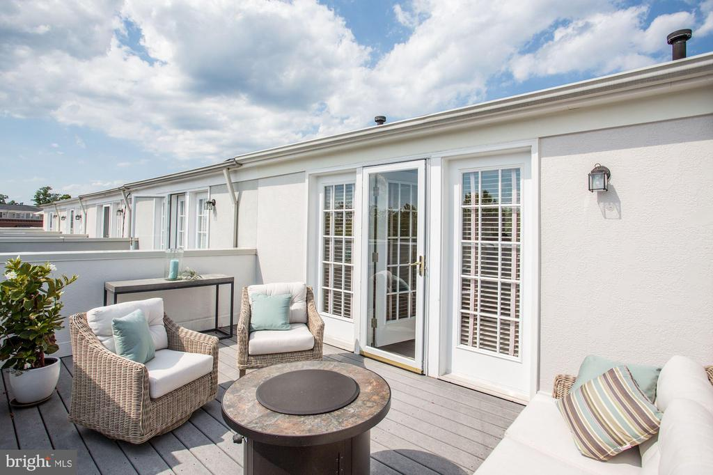 Roof Top Terrace w/Sunset Views-Room for Fire Pit - 12197 CHANCERY STATION CIR, RESTON