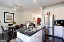 Kitchen Island-Stainless Steel Refrigerator - 12197 CHANCERY STATION CIR, RESTON