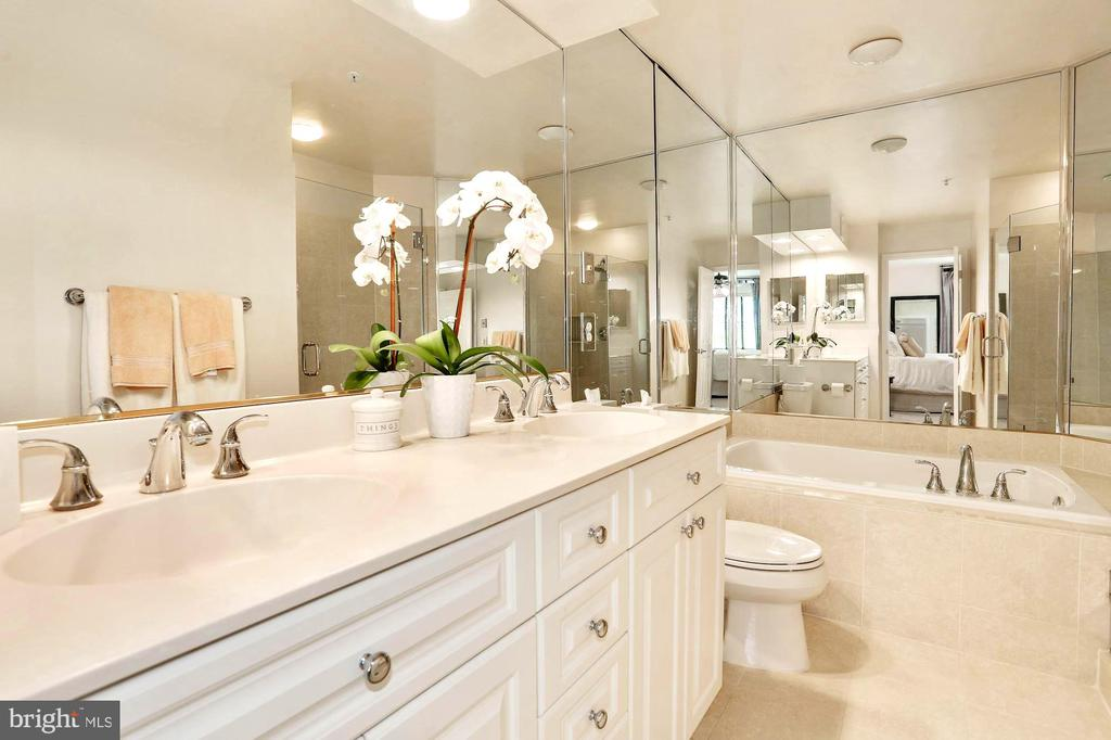 Master Bath-Double Bowl Vanity - 12197 CHANCERY STATION CIR, RESTON