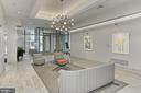 Lobby has modern feel - 3650 S GLEBE RD #238, ARLINGTON