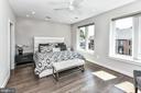 Main bedroom with room darkening blinds + hardwood - 603 SLADE CT, ALEXANDRIA