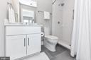 Full bath with Tile floor + quartz countertops - 603 SLADE CT, ALEXANDRIA