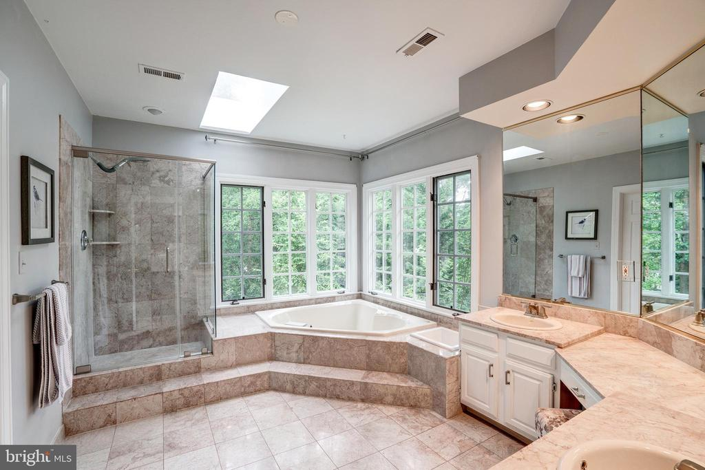Gorgeous marble master bath - 9318 LUDGATE DR, ALEXANDRIA