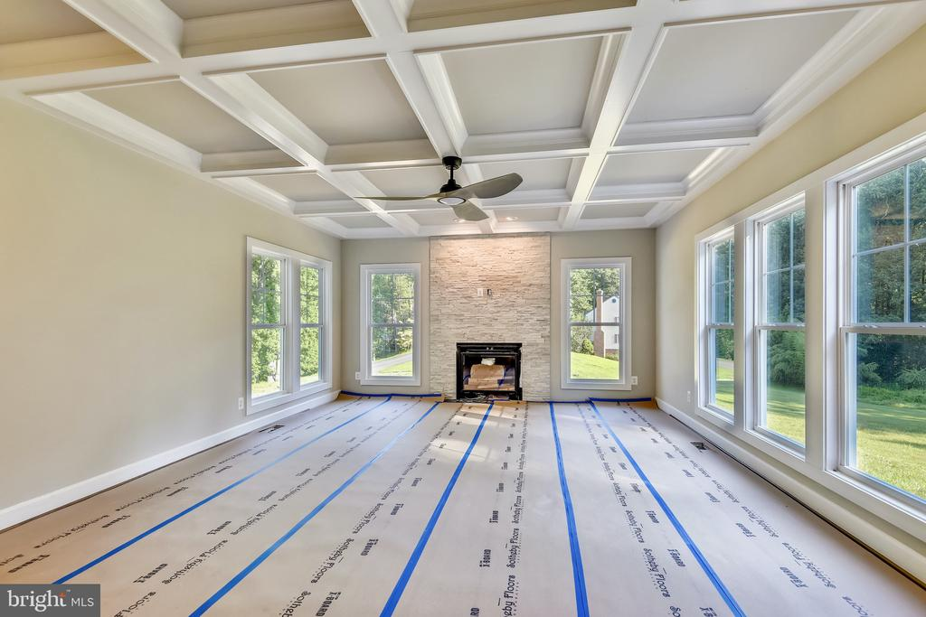 Sunlit w/ coffered ceiling and gas FP - 9524 LEEMAY ST, VIENNA