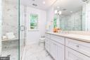 Owner's bath with marble and glass finishes - 4401 GARRISON ST NW, WASHINGTON