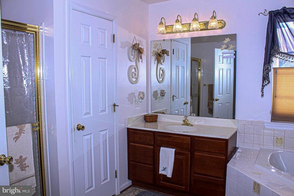 owners bath with 2 separate vanities - 3220 LACROSSE CT, DUNKIRK