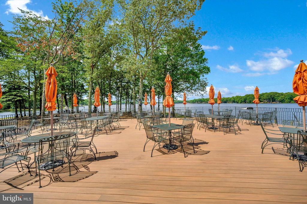 Dining Patio at the Clubhouse - 109 INDIAN HILLS RD, LOCUST GROVE