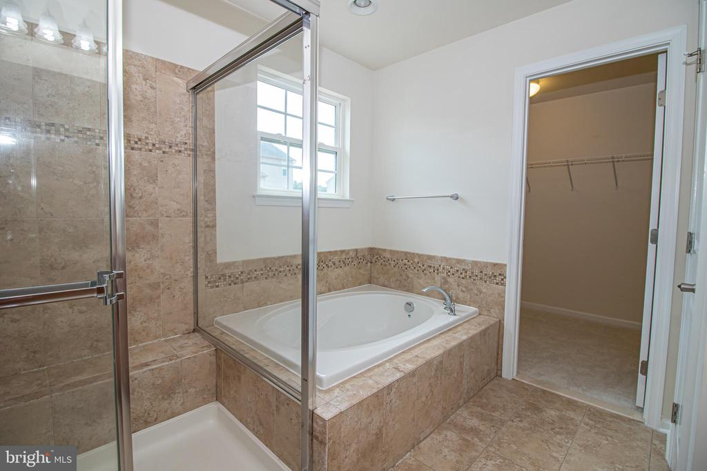 Master Tub & Shower with Listello - 31 RUNYON DR, STAFFORD