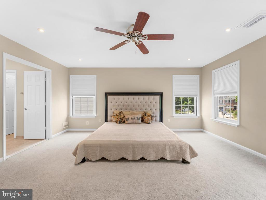 Mst bedroom with5 windows, ceiling fan/light, - 358 SUGARLAND MEADOW DR, HERNDON