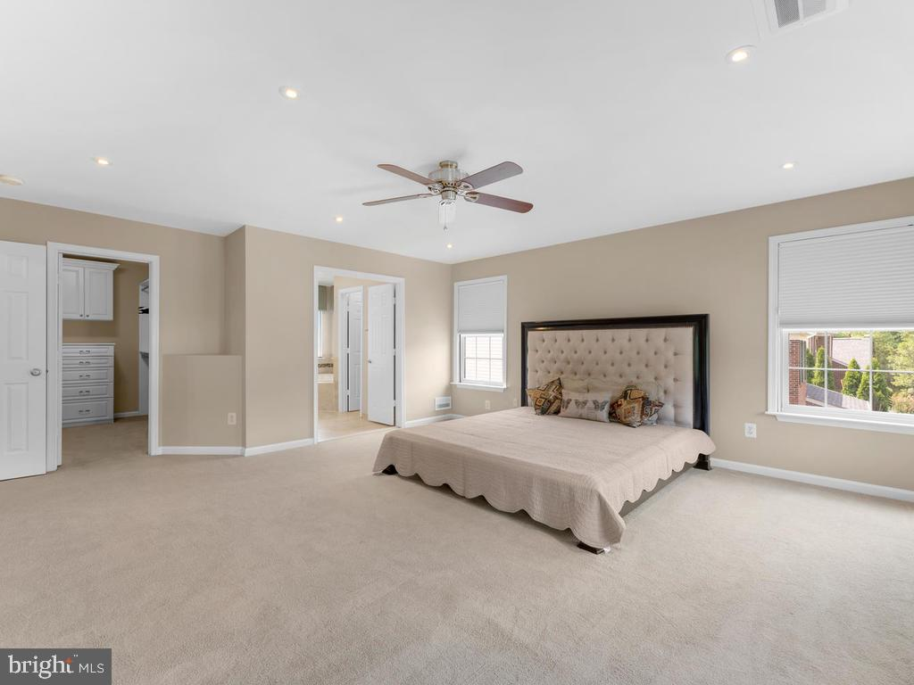 recessed lighting, fan, double dorrs to bath, - 358 SUGARLAND MEADOW DR, HERNDON