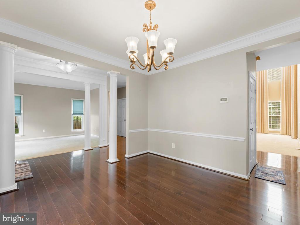 Dining across foyer to living and back to family - 358 SUGARLAND MEADOW DR, HERNDON