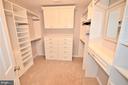 Custom closet, no need for a dresser - 358 SUGARLAND MEADOW DR, HERNDON