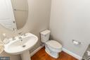 Half bath on main level - 1011 N KENSINGTON ST, ARLINGTON