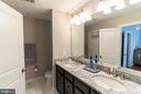 Master bath, double vanities - 1011 N KENSINGTON ST, ARLINGTON