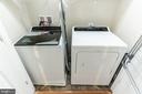 Washer / Dryer  on second floor - 1011 N KENSINGTON ST, ARLINGTON