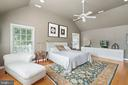 Master Bedroom with Vaulted Ceiling - 230 MASONS LN SE, LEESBURG