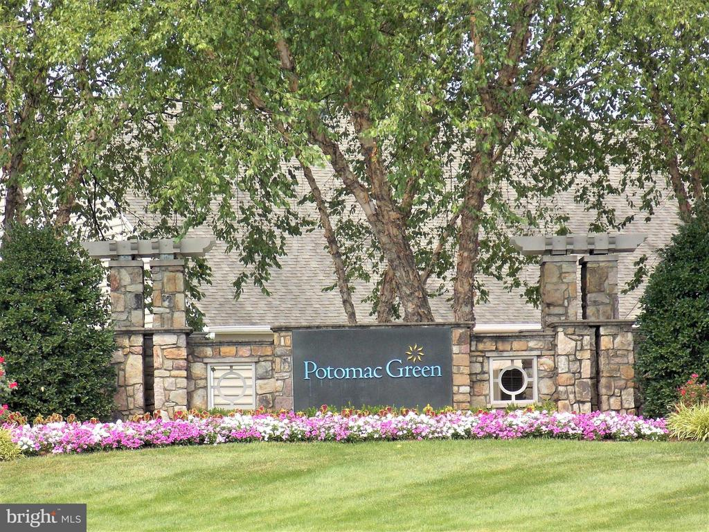 Potomac Green Community Sign, as seen from street. - 44315 STABLEFORD SQ, ASHBURN