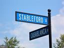 Street Sign: Stableford Sq, off of Casablanca Dr. - 44315 STABLEFORD SQ, ASHBURN
