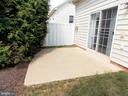 Patio in backyard - 44315 STABLEFORD SQ, ASHBURN