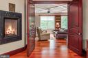 2nd upstairs bedroom w/ gas fireplace (or office) - 8205 ASHY PETRAL CT, SPOTSYLVANIA