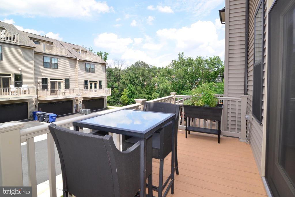 Deck off of kitchen - 6157 CAREY PARK LN, FALLS CHURCH