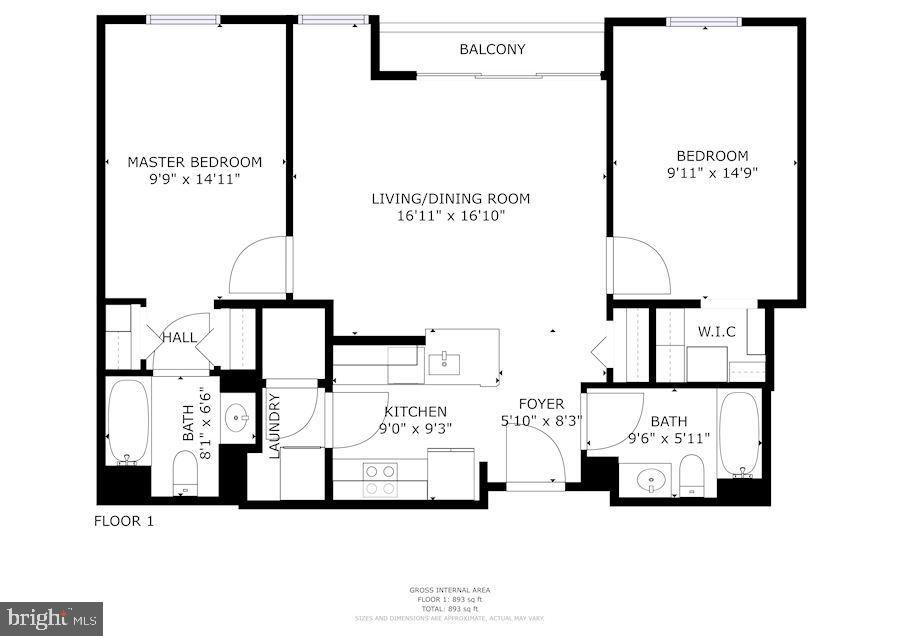 Floor Plans - 880 N POLLARD ST #701, ARLINGTON