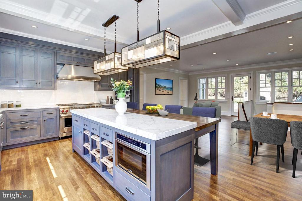 Gourmet chef's kitchen - 5205 LAWN WAY, CHEVY CHASE