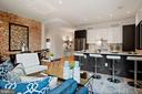 Exposed brick wall, ample living space - 1745 N ST NW #208, WASHINGTON