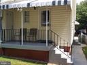 Rear porch - 4912 ARKANSAS AVE NW, WASHINGTON