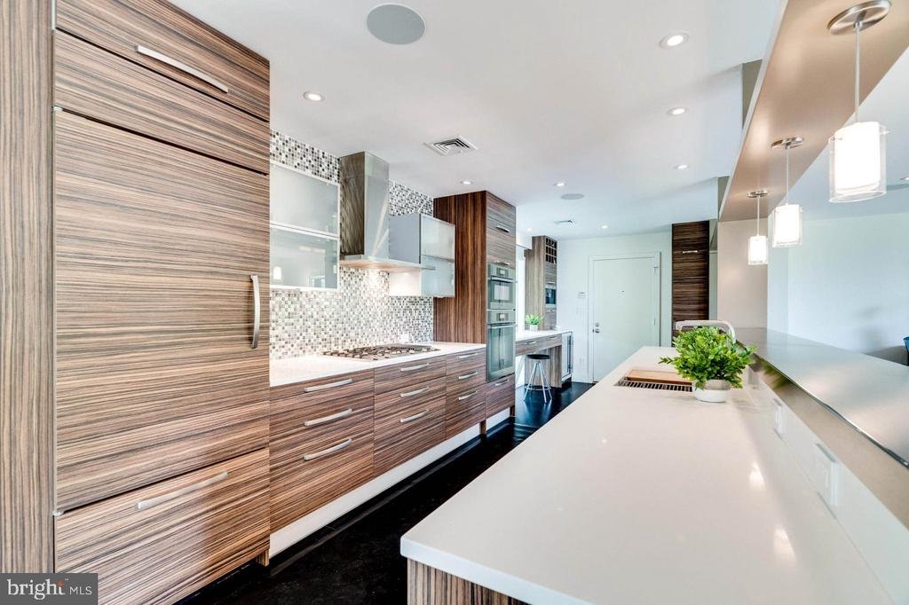 Sleek kitchen with  Miele /subzero appliances - 3004 CUNNINGHAM DR, ALEXANDRIA
