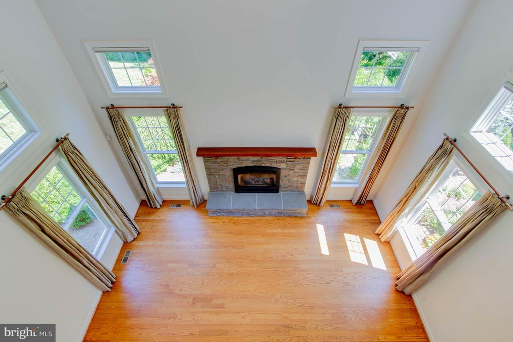 Family Room View from Upstairs - 9600 THISTLE RIDGE LN, VIENNA
