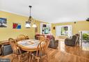 Open dining and family room - 249 DAVIS AVE SW, LEESBURG