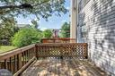Great deck off the kitchen - 249 DAVIS AVE SW, LEESBURG