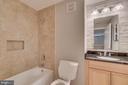 Retiled Loft Bathroom - 1201 EAST WEST HWY #3, SILVER SPRING